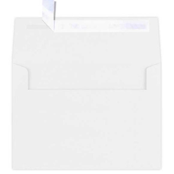 80lb White Square Flap Envelopes - 10PK