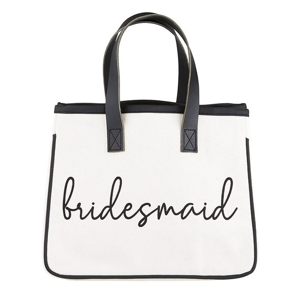 Bridesmaid Mini Canvas Tote