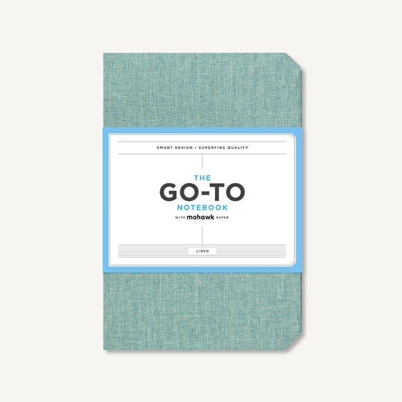 Go-To Notebook with Mohawk Paper - Sage Blue Lined