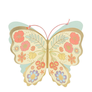 Floral Butterfly Stand Up Birthday Card