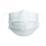 Solid White Disposable Face Masks, Set of 7