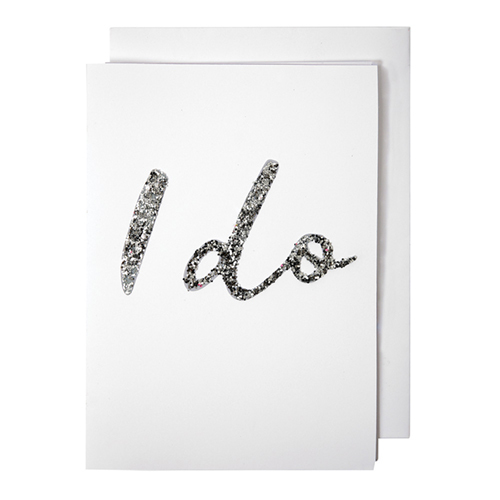 Glittered I Do Card