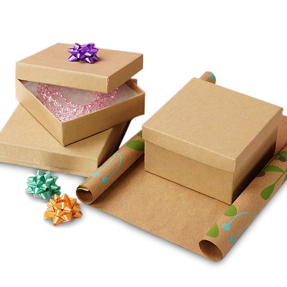 Natural Kraft Jewelry Box