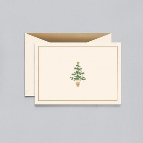 Engraved Christmas Tree Notes, Box of 10