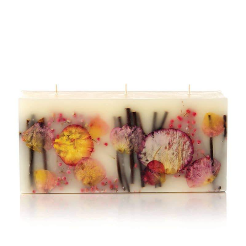 Wick Brick Botanical Candle - Apricot Rose