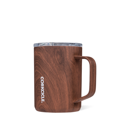 Insulated Mug - 16oz Walnut Wood