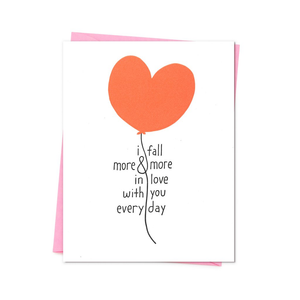 More and More in Love Card