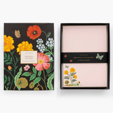 Botanical Social Stationery, Set of 12