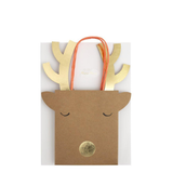 Reindeer Small Gift Bags, Set of 2