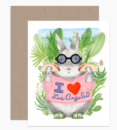 Los Angeles Tacos Bunny Card