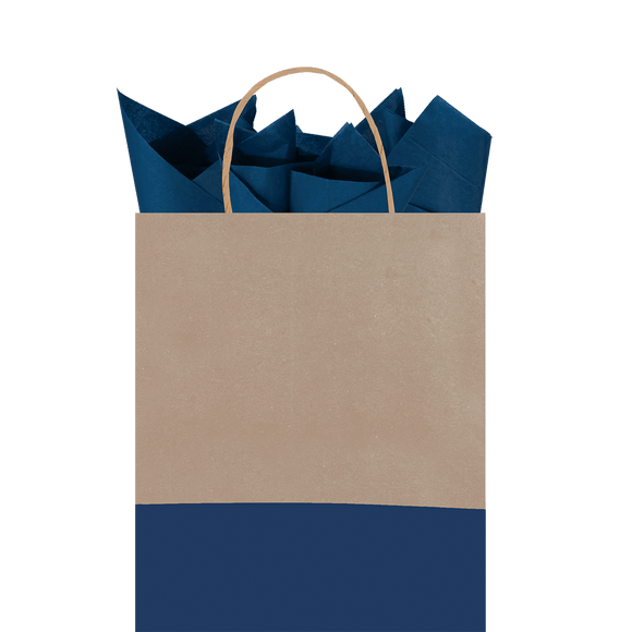 Midnight Dipped Kraft Tote Gift Bag