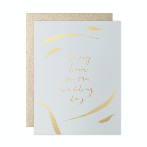 To My Love Strokes Wedding Day Card