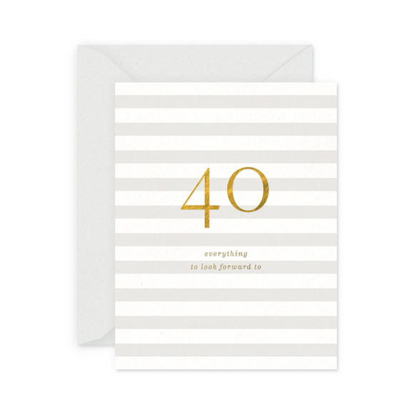 40 Milestone Birthday Card
