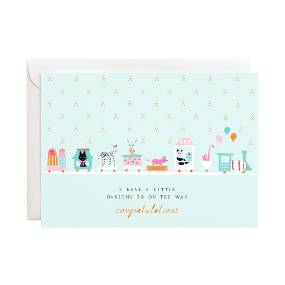 Choo Choo Train Baby Card