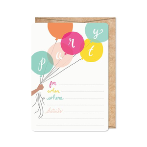 Birthday Brights Party Invitations
