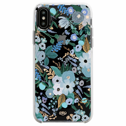 Garden Party Blue iPhone Case