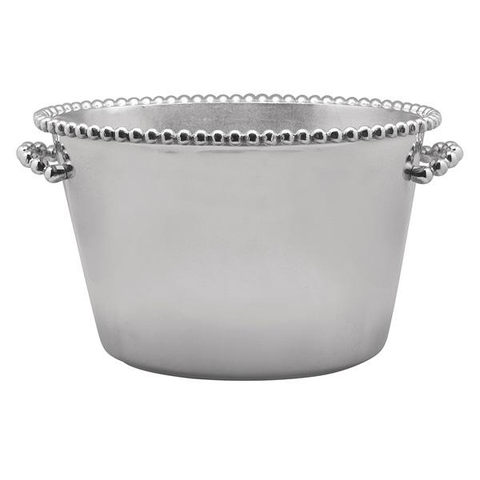 Pearled Medium Ice Bucket, Engraved