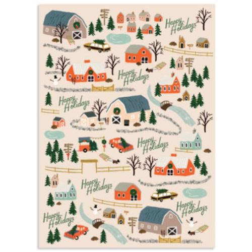 Holiday Tree Farm Wrapping Sheet