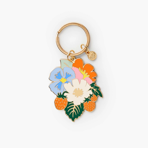 Strawberry Fields Enamel Keychain