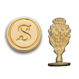 Initial Round Cerif Font Brass Wax Seal Stamp