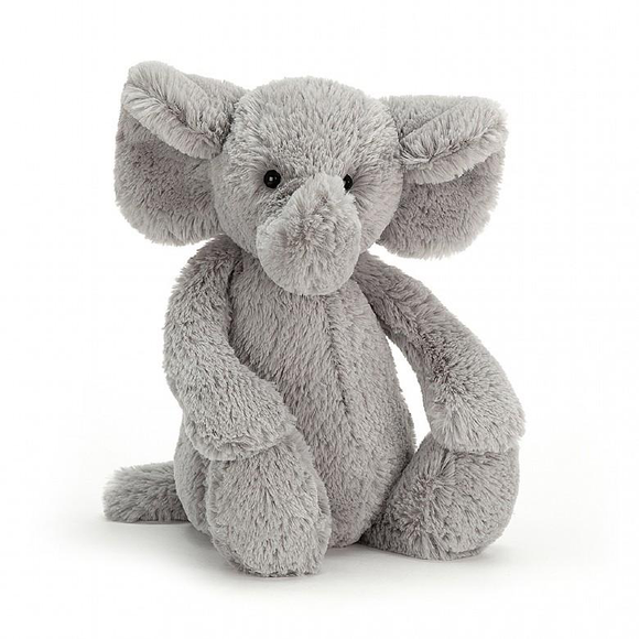 Bashful Silver Elephant - Medium
