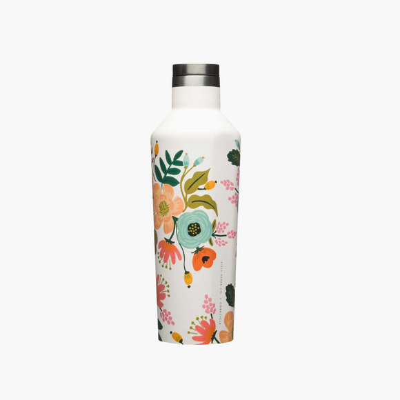 Corkcicle x Rifle Paper Canteen - 16oz. Cream Lively Floral