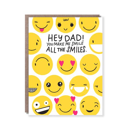 All The Smiles Dad Card