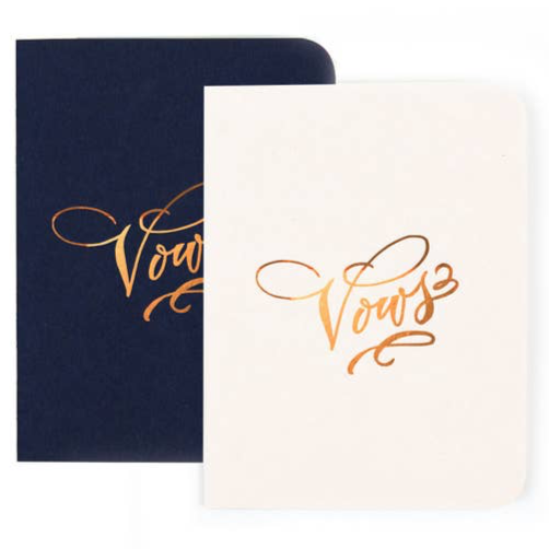 Gold Foil Vows Notebook Duo