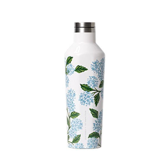 Corkcicle x Rifle Paper Canteen - 16oz. Gloss Cream Hydrangea