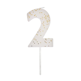 Glittered Number Birthday Candle
