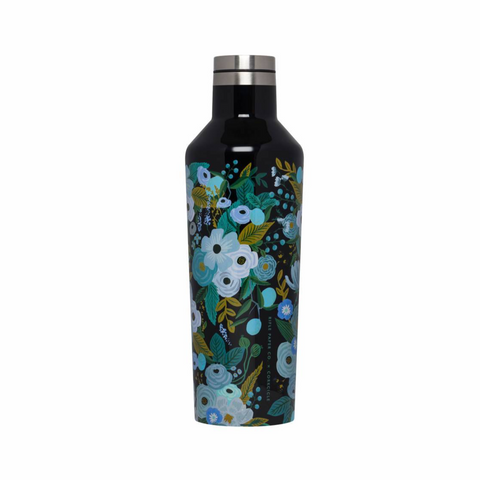 Corkcicle x Rifle Paper Canteen - 16oz. Garden Party Blue