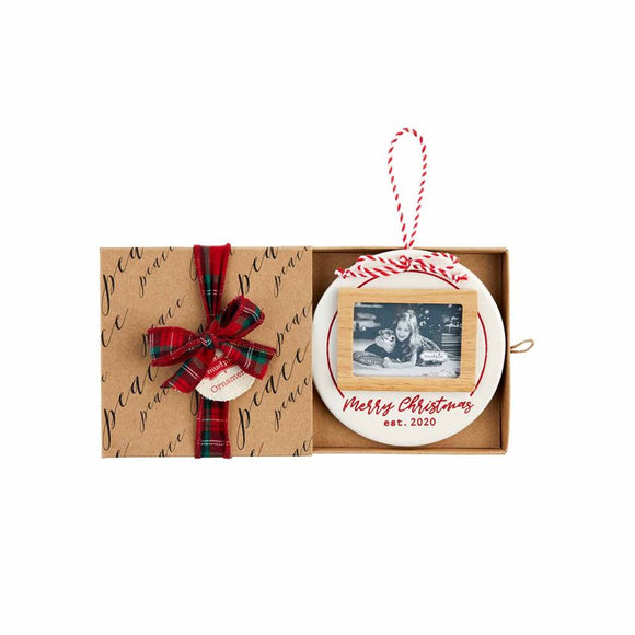 2020 Merry Christmas Frame Ornament
