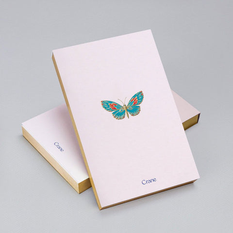 Engraved Butterfly Gold Foil Edge Note Pad