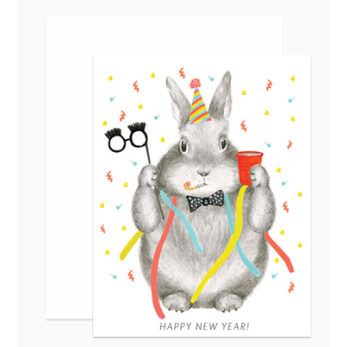 New Year Bunny Card