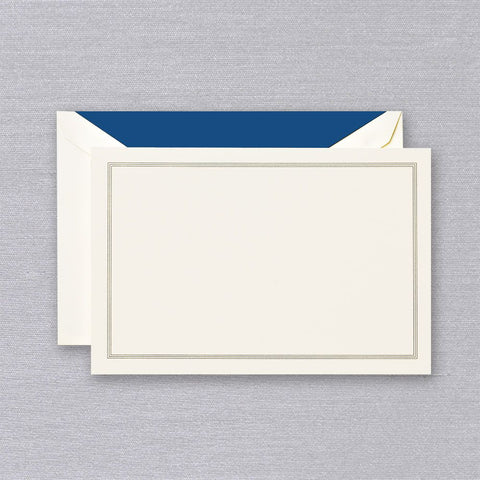 Regent Blue Triple Hairline Frame Correspondence Cards