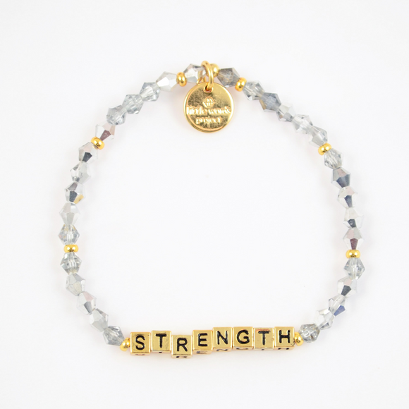 Little Words Project Crystal Gold Bracelet