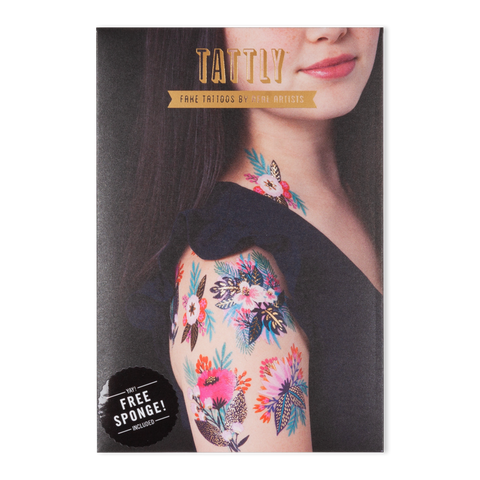 Brilliant Blooms Temporary Tattoo Set