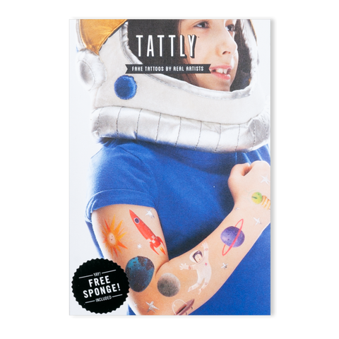 Space Explorer Temporary Tattoo Set