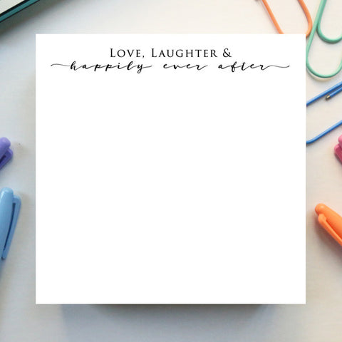 'Happily Ever After' Notepad