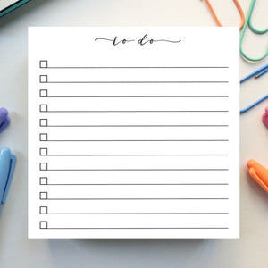 To Do Checklist Notepad