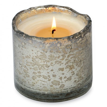 Silver Artisan Candle 13oz - Tobacco Bark