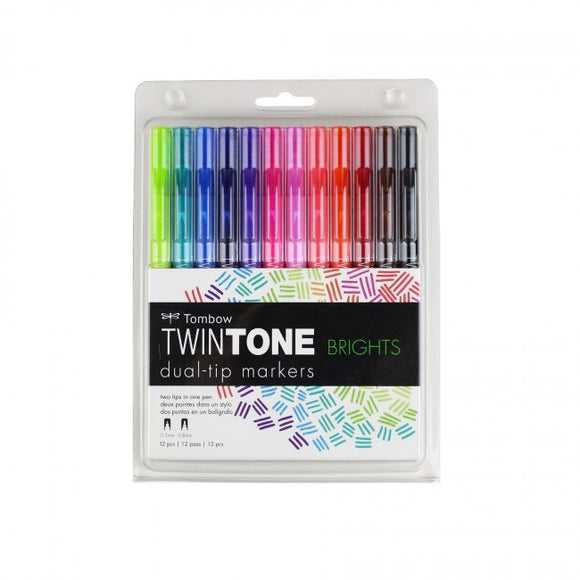 TwinTone Marker Set - Bright 12 Pack