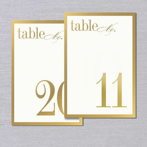 Gold Bordered Table Cards 11-20