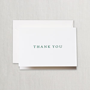 Hunter Green Thank You Cards