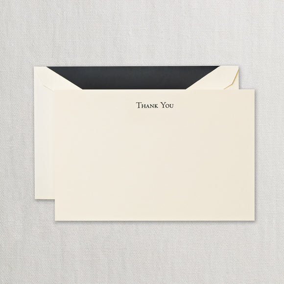 Engraved Black Thank You Card ***