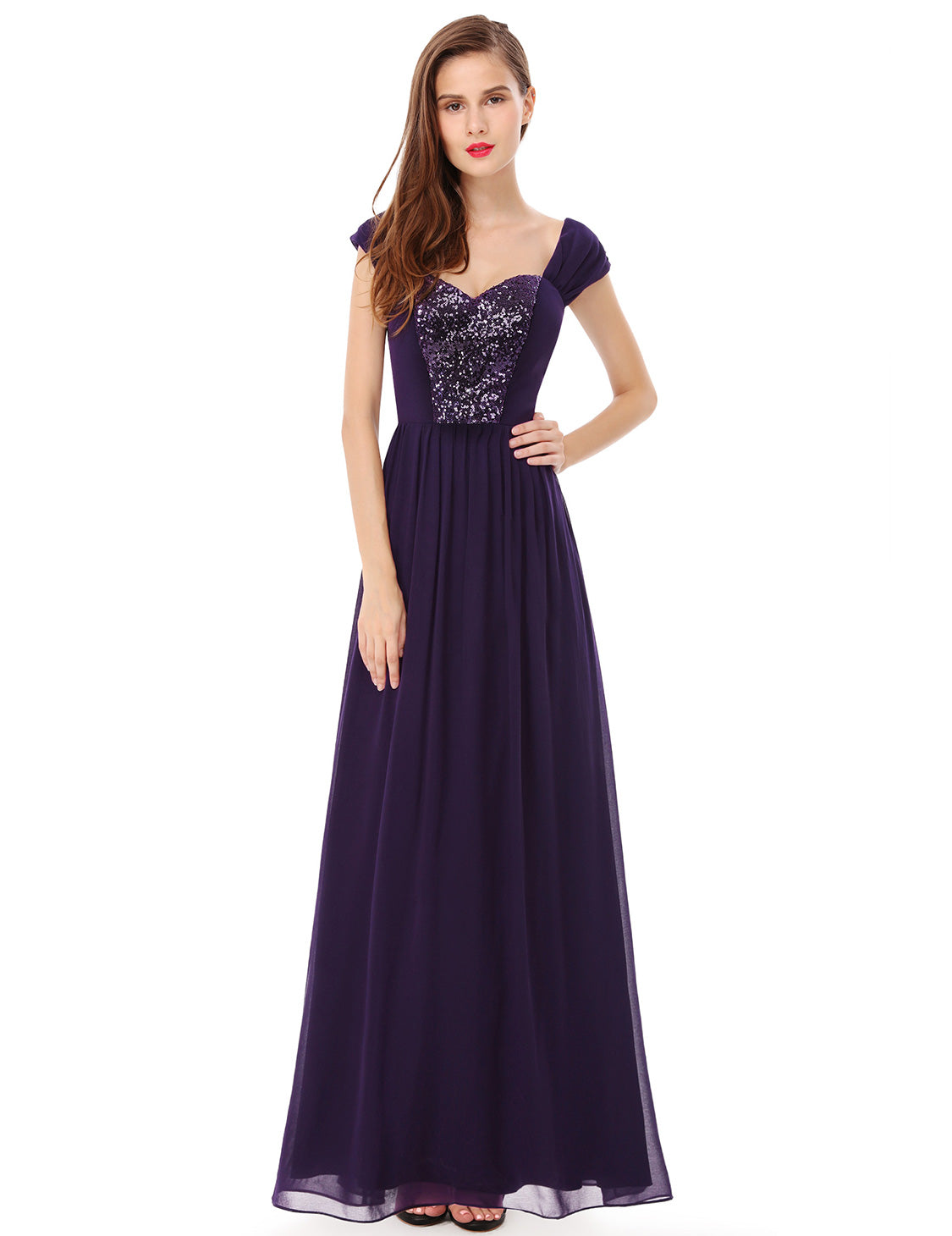Obeige Elegant Purple Long Evening Dress