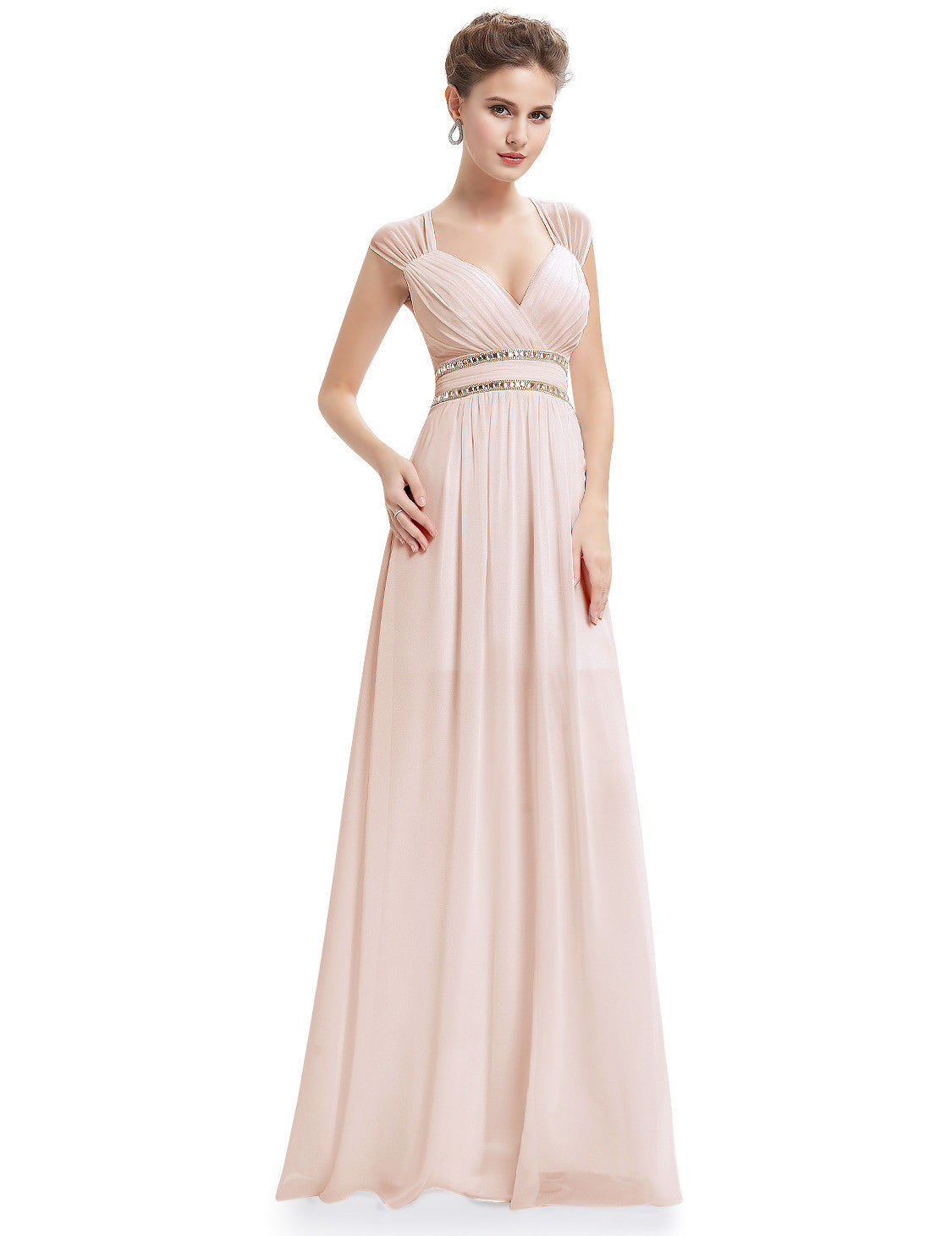 Obeige Elegant V-neck Long Evening Dress