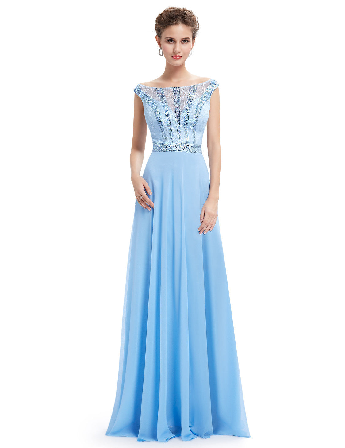 Obeige Elegant Blue Long Evening Dress