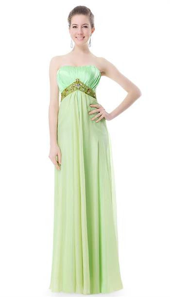 Strapless Long Party Dress - O'beige