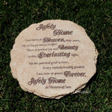 "Garden Stone ""Safely Home"" 10 inch - Keepsake-Memorials"